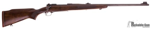 Picture of Used Pre 64 Winchester Model 70 Bolt Action Rifle, 375 H&H, Wood Stock, 24'' Barrel w/Sights, Very Good Condition