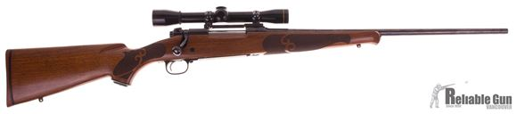 Picture of Used Winchester Model 70 XTR Featherweight Bolt Action Rifle, 243 Win, 22'' Barrel, Push Feed, Walnut Stock, w/Leupold M8 4x Scope, Very Good Condition