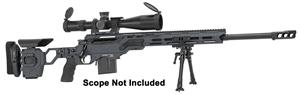 "Picture of Cadex Defense CDX-33 Patriot Rifle - 338 Lapua, 27"", 1-11.25"" Twist, Hybrid Sniper Grey/Black, DX2 Double Stage Trigger, 5rds, 20MOA Rail, MX1 Muzzle Brake, Skeleton Buttstock, w/Bipod"