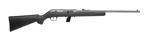 "Picture of Savage Lakefield 64 FSSXP Semi Auto Rimfire Rifle - 22LR, 21"", Matte Stainless Steel, Synthetic Stock, w/ 3-9X40 Silver Scope"