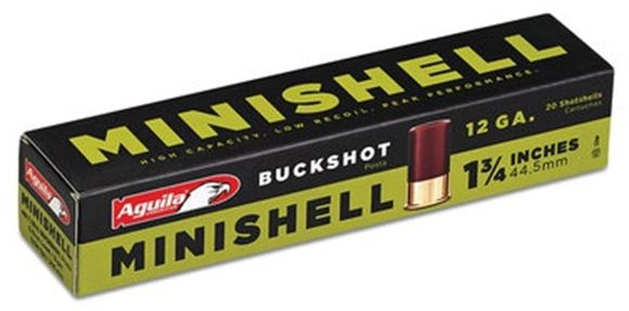 Picture of Aguila Shotgun Ammo, Minishells - 12ga, 4B/1B Buckshot, 1-3/4, 5/8 Load, 1200FPS, 500rds Case