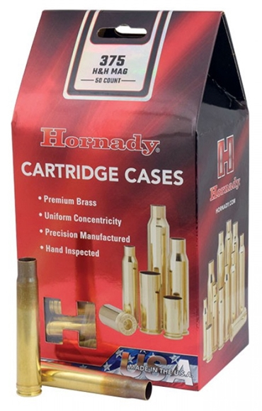 Picture of Hornady Unprimed Cases - 375 H&H Mag, 50ct Box