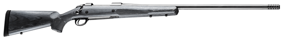 """Picture of Sako 85 Long Range Bolt Action Rifle - 300 Win Mag, 26"""", Matte Blue, Cold Hammer Forged Heavy Contour Barrel w/Muzzle Brake, Black Laminate Stock w/Flat Forend & Palm Swell, 4rds, No Sight, 2-4lb Adjustable Trigger"""