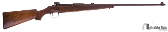 Picture of Used Ross Rifle Co. M-10 Sporter Bolt-Action 280 Ross, With Flip Up Peep Sight, Forend Tip Cracked, Fair Condition