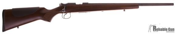 Picture of Used CZ 452-2E ZKM Varmint Bolt Action Rifle - 22 LR, Heavy Barrel, Walnut Stock,12oz Trigger, Free Float and Bedded, Polished Bore and Locking Surfaces, 5rd Magazine, No Sights, Free Floated Barrel, Very Good Condition.