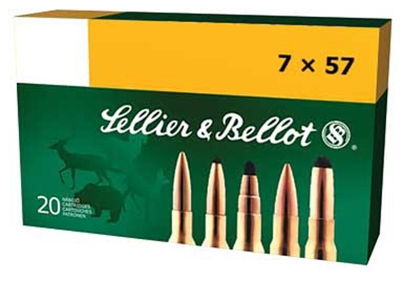 Picture of Sellier & Bellot Rifle Ammo - 7x57mm, 140Gr, FMJ, 20rds Box