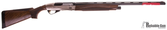 """Picture of Pre Owned Never Fired, Benelli ETHOS Semi-Auto Shotgun - 12Ga, 3"""", 28"""", Blued, Engraved Nickel-Plated Receiver, AA-Grade Satin Walnut Stock, 4rds, Red-Bar Front & Metal Mid Bead Sights, Flush Crio Chokes (C,IC,M,IM,F) w/Original Case and Accessories"""
