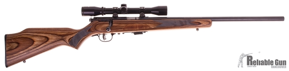 Picture of Used Savage Mark II Bolt-Action .22LR, Blued, Heavy Barrel, Laminate Stock, With 4x32mm Scope, Good Condition