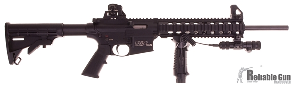 Picture of Used Smith & Wesson M&P 15-22 Semi-Auto 22LR, With Foregrip & Laser, 3 Mags, Good Condition