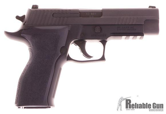 "Picture of Used SIG SAUER P226R Enhanced Elite DA/SA Semi-Auto Pistol - 40 S&W, 4.4"", Nitron Slide, Black Hard Anodized Frame, 2x10rds, SIGLITE Night Sights, SRT, Rail, Beavertail, Original Box, Excellent Condition"