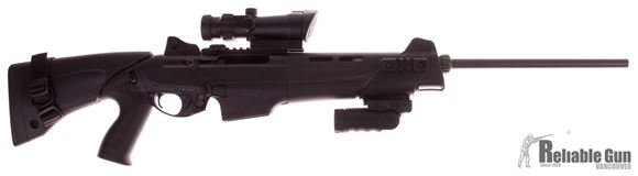 "Picture of Used Benelli MR1 Semi-Auto Rifle - 223 Rem, 20"", Black Anodized, Technopolymer Collapsible Stock, 1 Magazine, Ghost Ring Sights, Bushnell Trophy Red/Green Dot Scope (Acog Style), Fab Folding Vertical Grip, Good Condition"