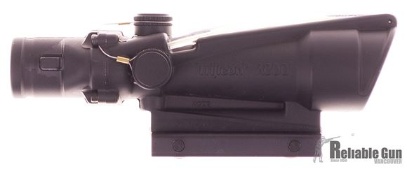 Picture of Used Trijicon ACOG TA11-F, 3.5x35 BAC Green Chevron 5.56 Reticle, With Original Box, Excellent Condition
