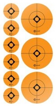 "Picture of Caldwell Shooting Supplies Paper Targets - Target Sticker Shooting Spots, 2""+1"", Spots, 12 Sheet Pack"