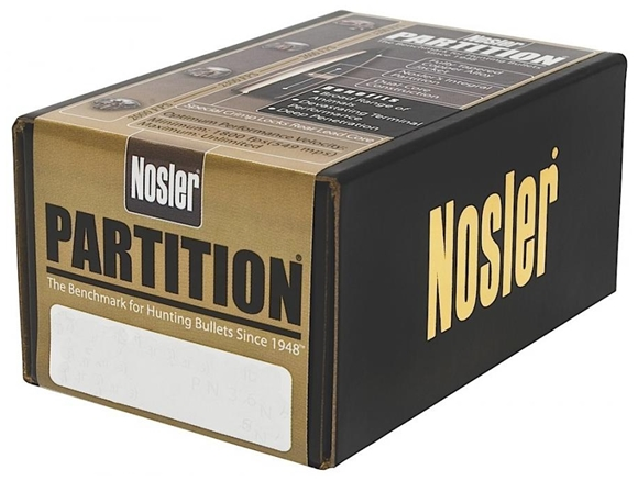 "Picture of Nosler Bullets, Partition - 9.3mm Caliber (.366""), 286Gr, Spitzer, 50ct Box"