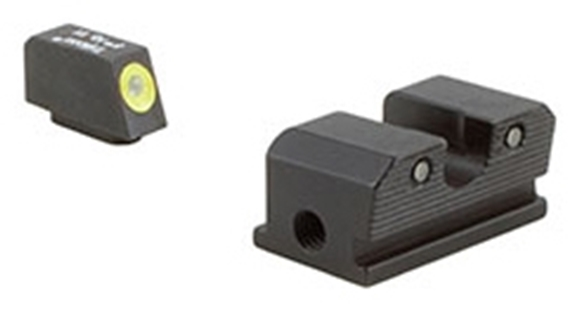 Picture of Trijicon Iron Sights, Trijicon HD Night Sights - Walther, WP101C, Walther P99/PPQ HD Night Sight Set, Yellow Front Outline, Fits Walther P99 & PPQ Models
