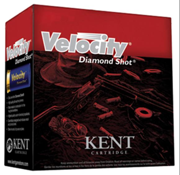 "Picture of Kent Velocity Diamond Shot Lead Sporting/Target Shotgun Ammo - 12Ga, 70mm (2-3/4""), 24gms, #7.5, 25rds Box, 1350fps (International Trap)"