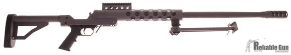 Picture of Pre Owned Serbu RN-50, Single Shot 50 BMG, Break Action Threaded Breech, 29.5'' Barrel Muzzle Brake, Bi Pod, New Never Fired