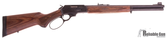 "Picture of Used Marlin Model 1895GBL Big Bore Lever Action Rifle - 45-70 Govt, 18.5"", Blued, American Pistol-Grip Two Tone Brown Laminate Stock, 6 Shot w/, Big-Loop Lever, Factory Engraved Bolt"