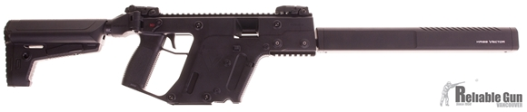 """Picture of Used KRISS Vector Gen II CRB Enhanced Semi-Auto Carbine - 9mm, 18.6"""", w/Square Enhanced Black Shroud, Black, M4 Stock Adaptor w/Defiance M4 Stock,2 Magazines, Flip Up Front & Rear Sights, Excellent Condition"""
