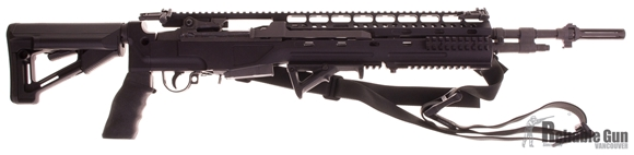 Picture of Used Norinco M305 308 Win - w/ Black Feather Stock, 3x 5/20 & 1x 5rd Magazines, Original Stock, MagPul Sling, MBUS Pro 45 Degree Flip-Up Sights, Magpul STR Stock.