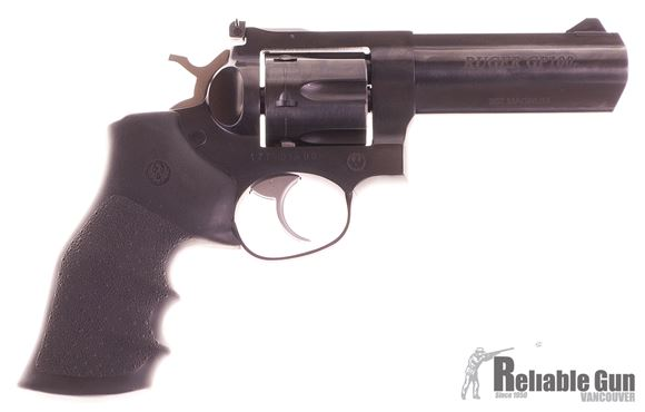 "Picture of Used Ruger GP100 DA/SA Revolver - 357 Mag, 4.2"", Blued, Alloy Steel, Hogue Monogrip Grips, 6rds, Ramp Front & Adjustable Rear Sights, Original Box, Excellent Condition"