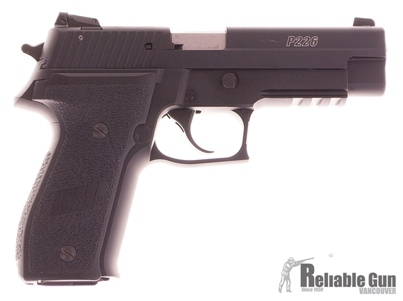 """Picture of Used SIG SAUER P226R Classic Rimfire DA/SA Semi-Auto Pistol - 22 LR, 4-1/2"""", Black Anodized, Black Polymer Factory Grips, 2x10rds, Adjustable Sights, Rail, No Box Excellent Condition"""
