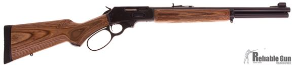 "Picture of Used Marlin 1895GBL, Once Fired, 45-70 GOVT, 18.5"", Brown Laminate Stock, 6 Shot Tube Magazine, Like New Condition"