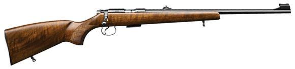 "Picture of CZ 455 Lux Rimfire Bolt Action Rifle - 22 LR, 20-1/2"", Hammer Forged, Blued, Walnut Stock, 5rds, Adjustable Sights, Adjustable Trigger"
