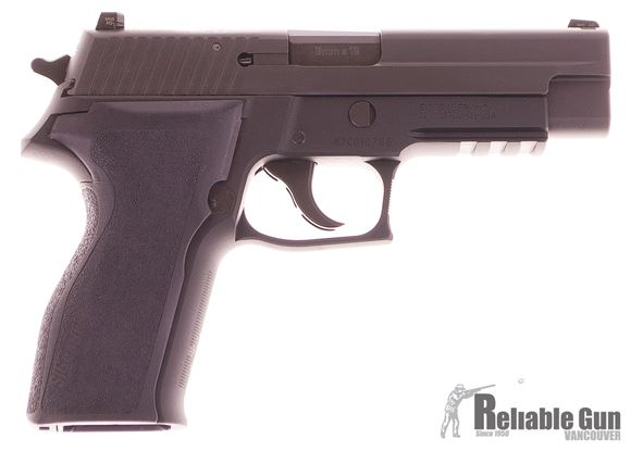 "Picture of SIG SAUER P226 Legacy DA/SA Semi-Auto Pistol - 9mm, 4.4"", Nitron, Black Hard Anodized, E2 Grips, 2x10rds, SIGLITE Night Sights, Accessory Rail, Legacy Slide"