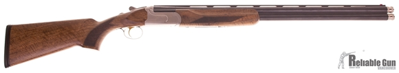 "Picture of Used Akkar Churchill Over-Under 12ga, 3"" Chambers, 28"" Barrels, With 5 Extended Chokes & Original Case, Excellent Condition"