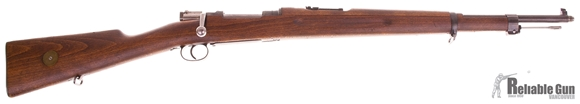Picture of Used Husqvarna Mauser Model 38 Bolt-Action 6.5x55, Full Military Wood, 1942 Mfg., With Bayonet, Good Condition