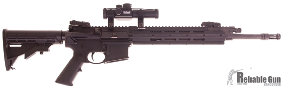 "Picture of Used Ruger SR556 Semi-Auto 5.56mm, 16"" Barrel, Short-Stroke Piston, With Bushnell Trophy Red Dot, 2 Mags, Good Condition"