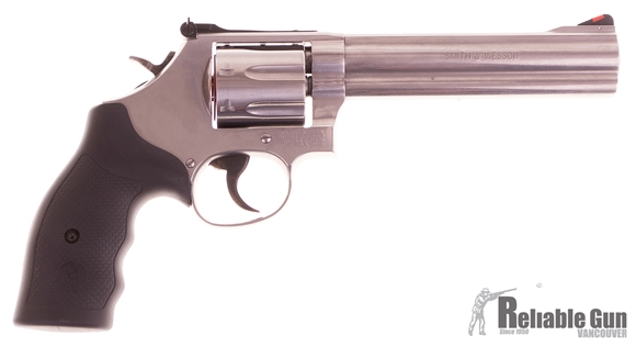 "Picture of Used Smith & Wesson 686-6 Double-Action 357 Mag, 6"" Barrel, Stainless, As New In Box"
