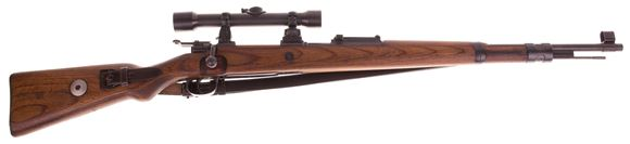 Picture of Used Mauser 98K Sniper Bolt-Action 8x57mm, Mitchell's Mauser Reproduction, Force-Matched & Refinished With Reproduction 6x ZF-39 Scope On Twist Mount, Excellent Condition