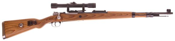 Picture of Used Mauser 98K Sniper Bolt-Action 8x57mm, Mitchell's Mauser Reproduction, Force-Matched & Refinished With Reproduction 6x ZF-39 Scope On Side Mount, Excellent Condition