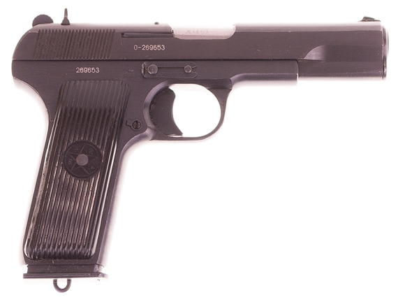 Picture of Used Zastava Arms M57 Single Action Semi-Auto Pistol - 7.62x25mm, 116mm, Blue, Polymer Grips, 1 Magazine, Fixed Iron Sights Very Good Condition