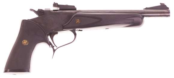 "Picture of Used Thompson Center Contender Single-Shot 44 Mag, 10"" Barrel, Blued, With Pachmayr Grips, Excellent Condition"