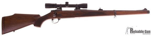 "Picture of Used Sako AV Bolt-Action 375 H&H Mag, Full Stock, 20"" Barrel, With Bausch & Lomb 1.5-6x32mm Scope, Very Good Condition"