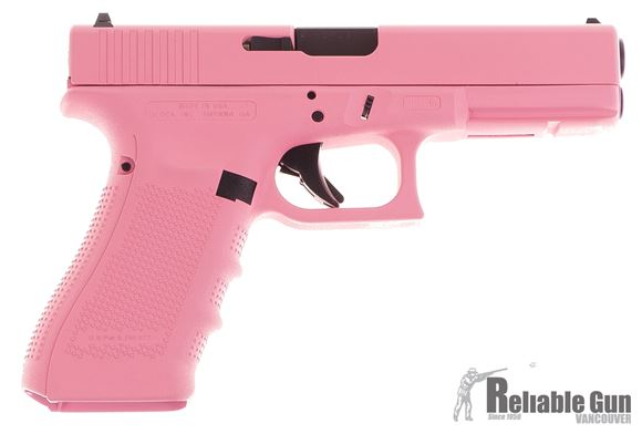 Picture of Used Glock 17 Gen4 Semi-Auto 9mm, Pink Cerakote, With 2 Mags & Original Box, Excellent Condition