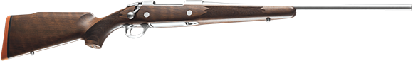 """Picture of Sako 85 Hunter Bolt Action Rifle - 30-06 Sprg, 22-7/16"""", Stainless Steel, Cold Hammer Forged Light Hunting Contour Barrel, Monte Carlo Style Oil Walnut Stock w/Palm Swell, 5rds, No Sight, 2-4lb Adjustable Trigger"""