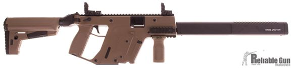 "Picture of Used Kriss Vector CRB Gen II Semi-Auto Carbine - 45 ACP, 18.6"", FDE, Folding Stock, w/Extra Matador (metal) Folding Stock Adapter, Magpul Vertical Grip, 3 Magazines, Good Condition with Original Case"