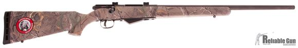 "Picture of Used Savage Model 25 Walking Varmint Bolt-Action Rifle - 17 Hornet, 22"" Matte Blued Heavy Barrel, Woodland Camo Synthetic Stock, Accutrigger, Bases, New In Box/ Salesman Sample"