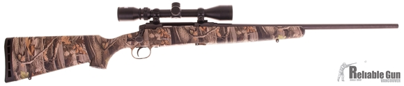 "Picture of Used Savage Axis XP Bolt-Action Rifle - 30-06 Sprg, 22"" Matte Blued, Woodland Camo, Bushnell 3-9x40 Scope Package, New In Box/ Salesman Sample"