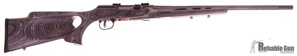 "Picture of Used Savage A17 Target Semi-Auto Rifle - 17 HMR, 22"" Fluted Heavy Barrel, Gloss Blued, Laminate Thumbhole Stock, Bases, New in Box/ Salesman Sample"