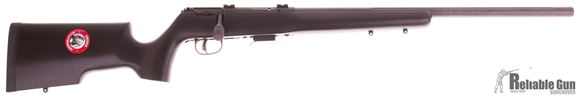 "Picture of Used Savage 93R17 TR Bolt-Action Rifle - 17 HMR, 22"" Fluted Heavy Barrel, Matte Blued, Matte Black Wood Stock, 5rds, AccuTrigger, Bases, New in Box/ Salesman Sample"