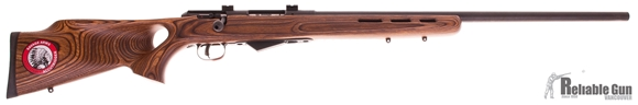 "Picture of Used Savage Model 25 Lightweight Varmint Bolt-Action Rifle - 22 Hornet, 24"" Matte Blued Heavy Barrel, Laminate Thumbhole Stock, Accutrigger, Bases, New In Box/ Salesman Sample"