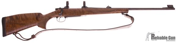 Picture of Used CZ 550 Standard Bolt Action Rifle - 270 Win, 24'' Barrel w/Sights , Blued, Hammer Forged, Walnut Stock, Single Set Trigger, Leupold 1'' Rings, Leather Sling, Excellent Condition