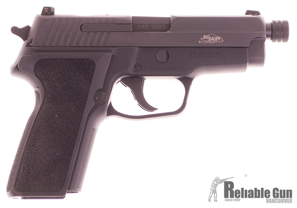 """Picture of Used Sig Sauer P229 SAS (Gen2) Semi-Auto 9mm, 4.25"""" Threaded Barrel, SRT Trigger, Night Sights, With 2 Mags & Original Box, As New Condition Unfired"""