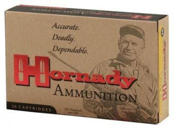 Picture of Hornady Custom Rifle Ammo - 8x57mm JS, 195Gr, InterLock SP, 20rds Box