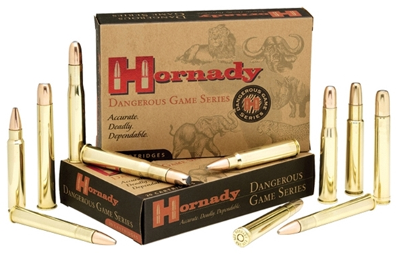 Picture of Hornady Dangerous Game Rifle Ammo - 375 H&H, 300Gr, DGX Bonded, 120rds Case